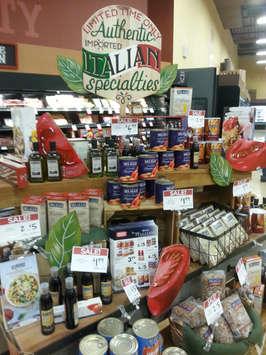 Authentic Italian Specialties Display