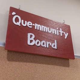 Que-mmunity Board