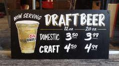 Draft Beer Sign