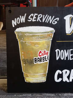 Draft Beer Sign (detail)