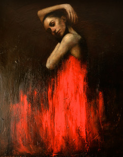 Marianela in red