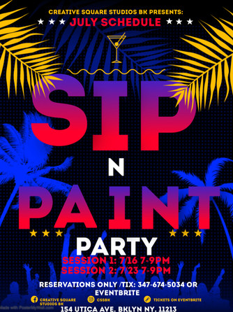 Sip N Paint Fridays!
