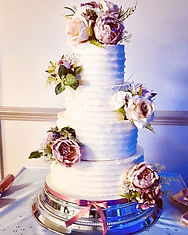 Rustic 4 tiered buttercream wedding cake