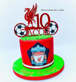 LFC sugarpaste red cake