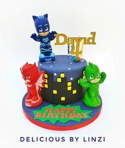 Little Mask heroes cake