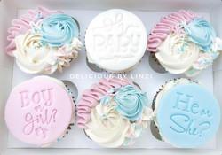 gender neutral baby shower cupcakes pink