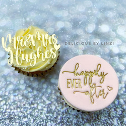 personalised wedding cupcake favours