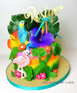 tropical birds birthday