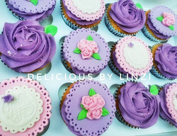 Pretty set of thank you cupcakes that we
