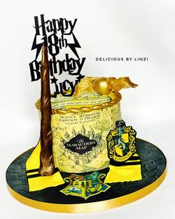 Marauders map Harry Potter cake