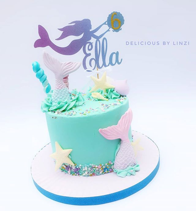 Gorgeous Mermaid themed buttercream and