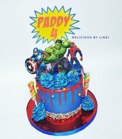 marvel drip cake
