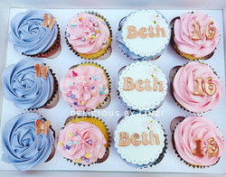 Pretty 16th birthday cupcake set 💜💖_#c