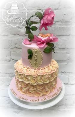 Baby rose cake