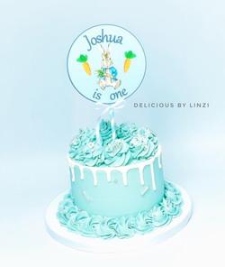 peter rabbit drip cake