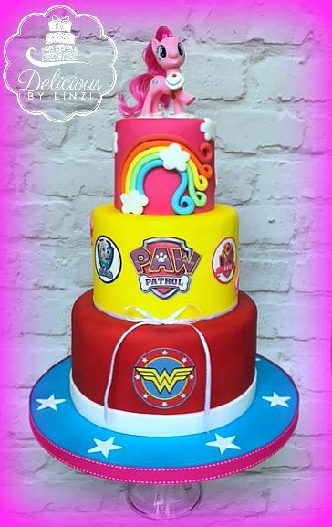 3 in 1 birthday cake