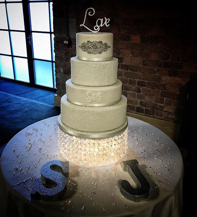 Crystal and diamante wedding cake