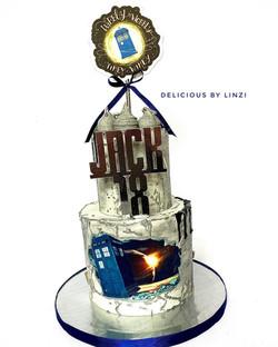 star wars 2 tiered drip cake