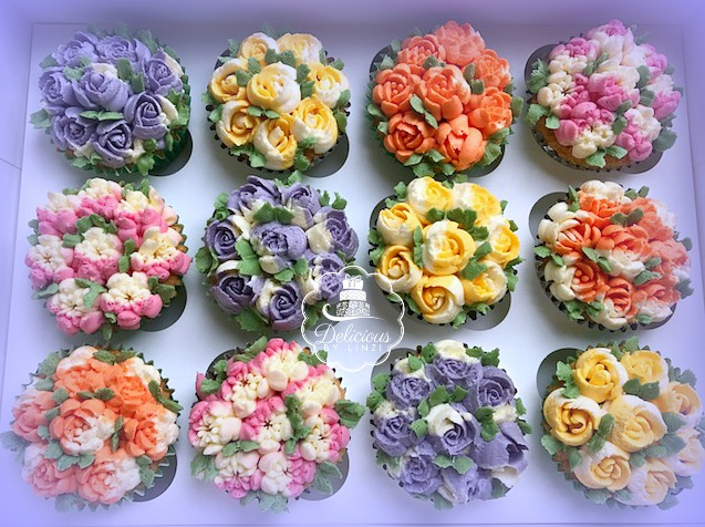 russian floral cupcakes