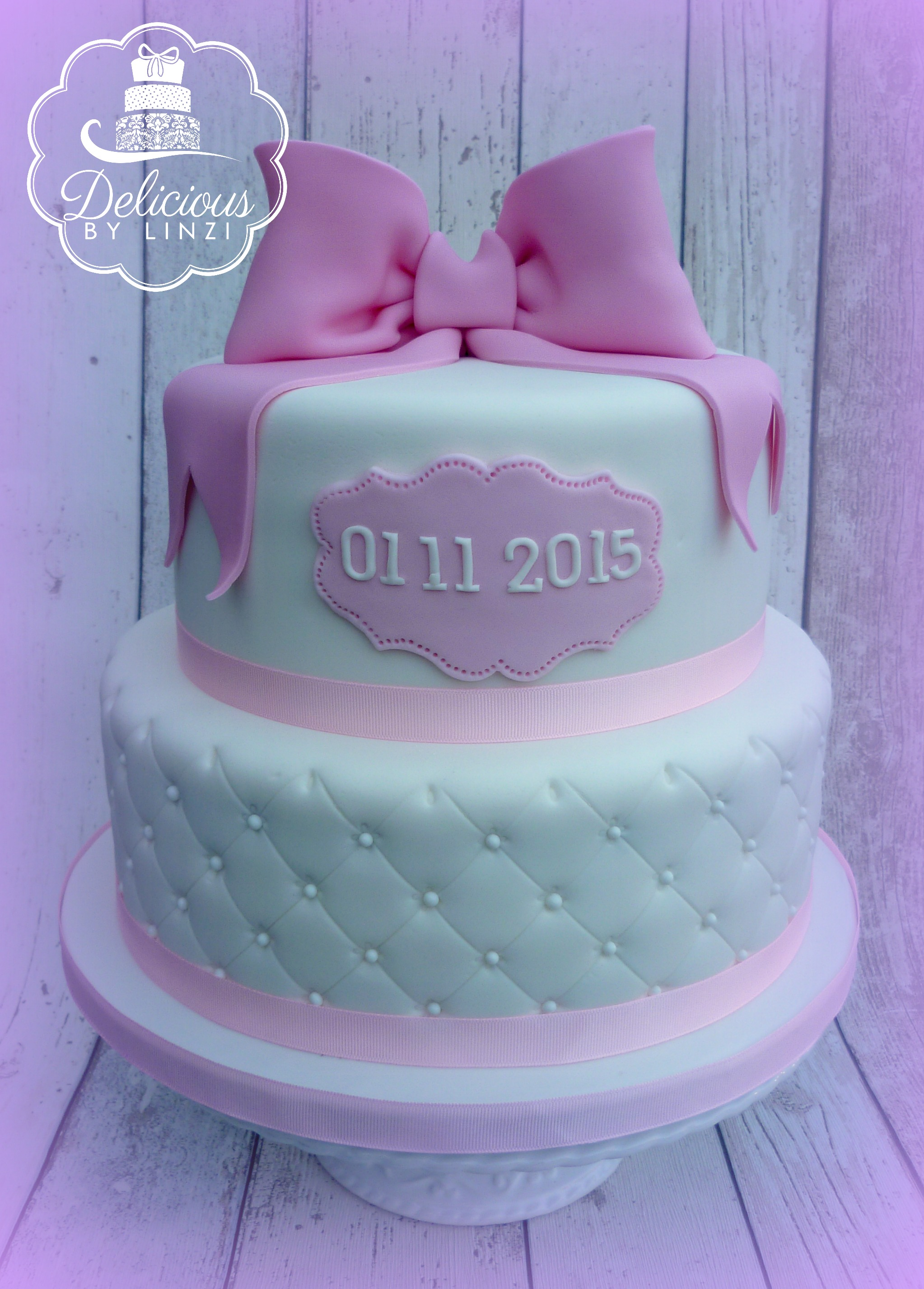quilted christening cake