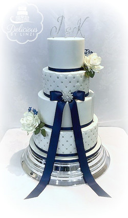 Royal blue and silver stud