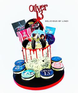 multi themed teenagers birthday drip cak