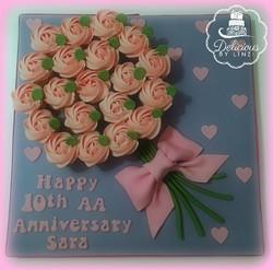 mini cupcake bouquet board