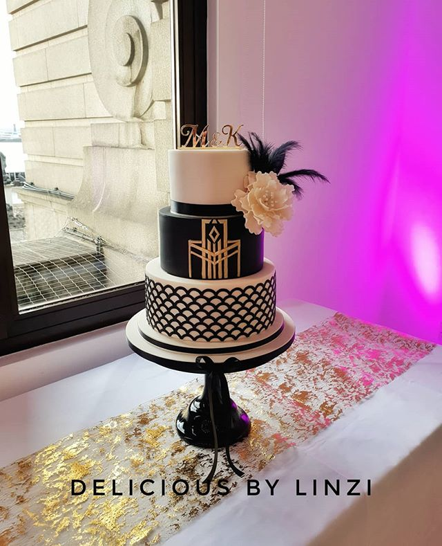 Art Nouveau Gatsby inspired cake