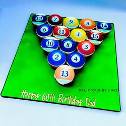 pool ball cupcake board