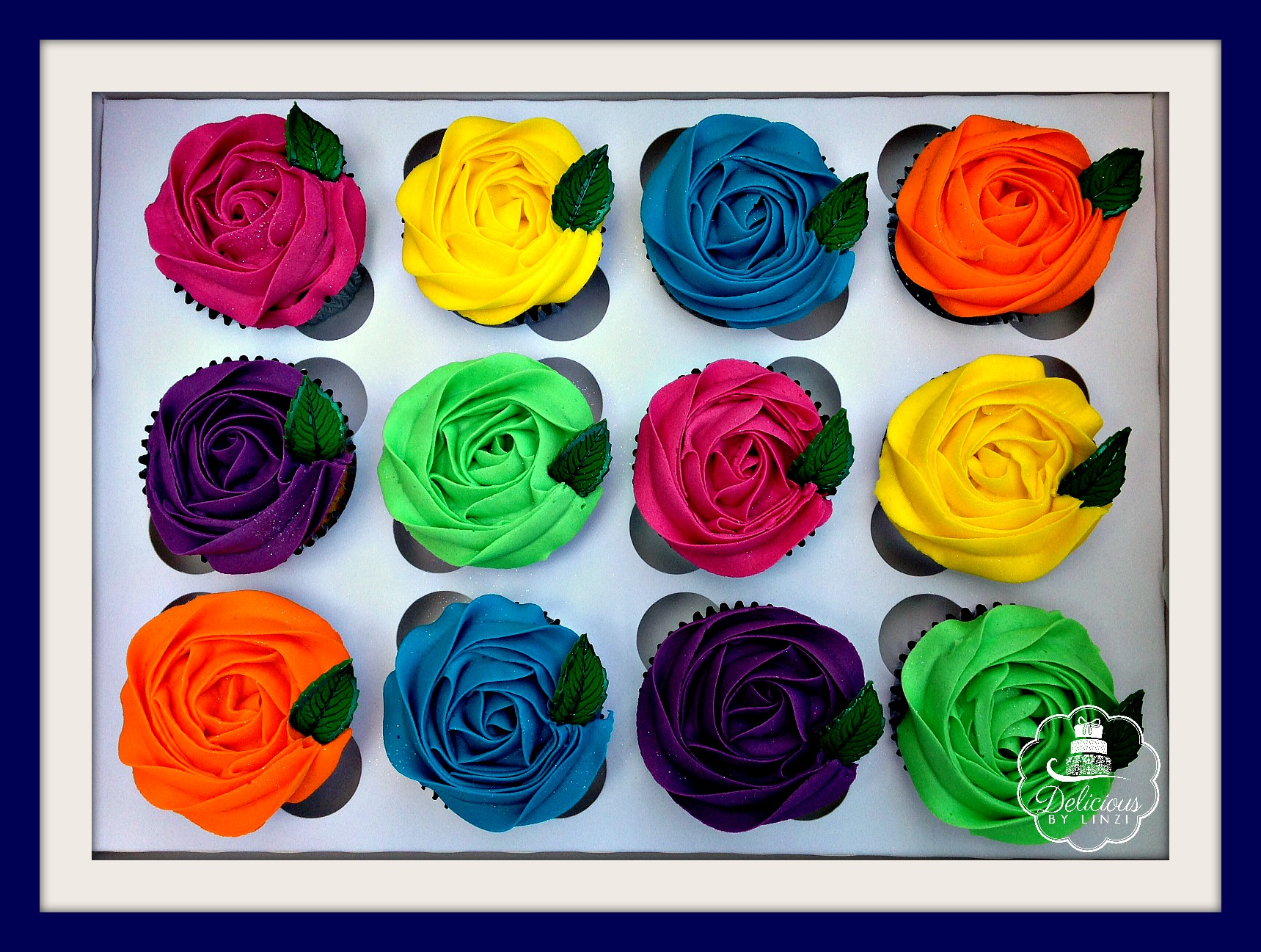 Multicoloured Rose swirls