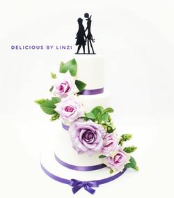 Jack and Sally themed wedding cake