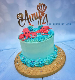 Under the sea! Lobster birthday cake for