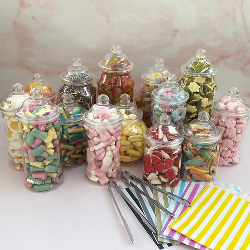 Filled Sweet Jars, for 120 people