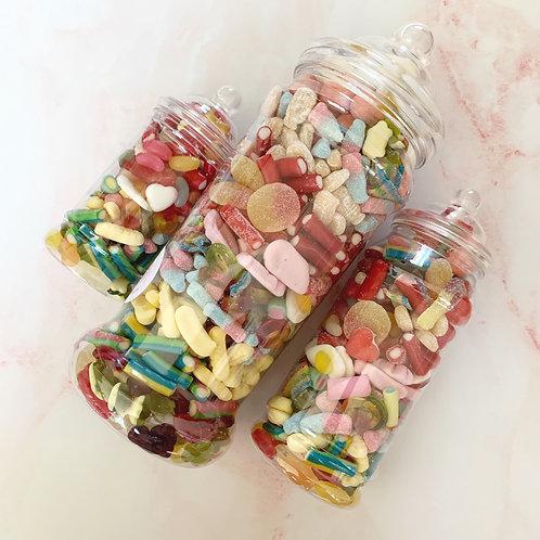 Mixed Sweet Jars x3 (Small, Medium and Giant)