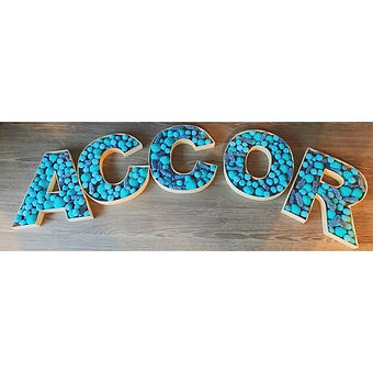 Colour Themed Sweet Filled Letters