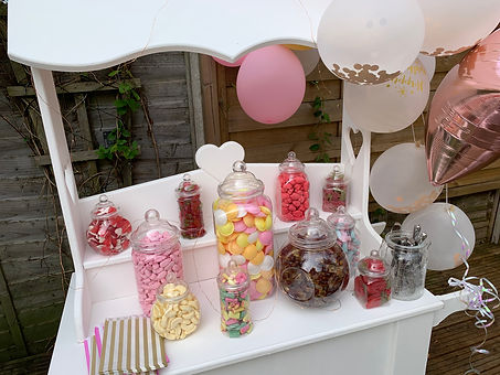 Sweet cart for hire in West Midlands and Warwickshire
