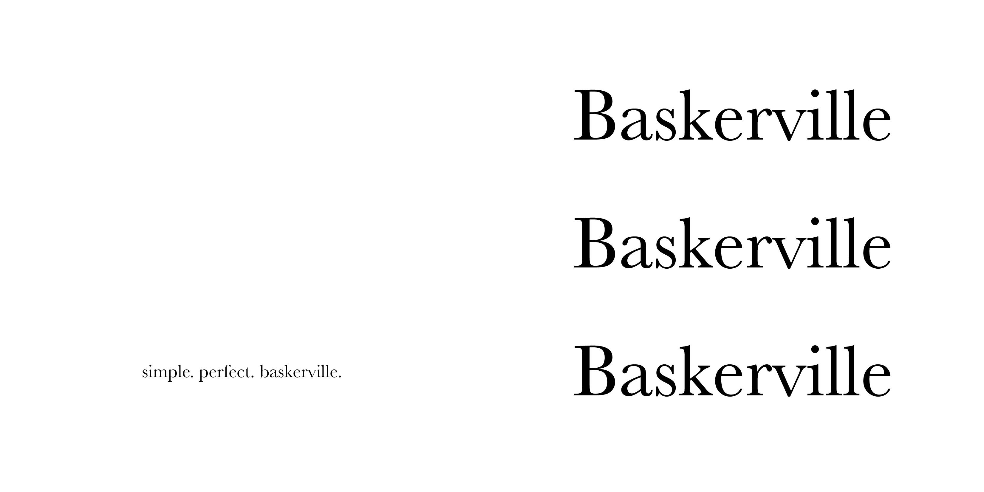 baskerville 18