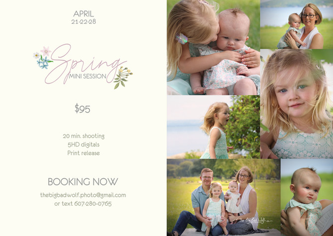 Spring Mini Session are now available on booking in Princeton, NJ