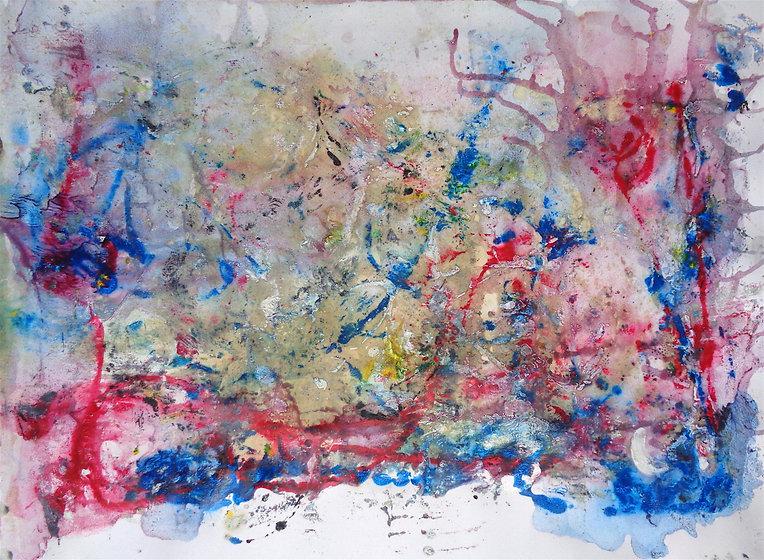 Davide Barbarino, Untitled n°23, mixed tecnhiques on cardboard 50x70cm, 2015