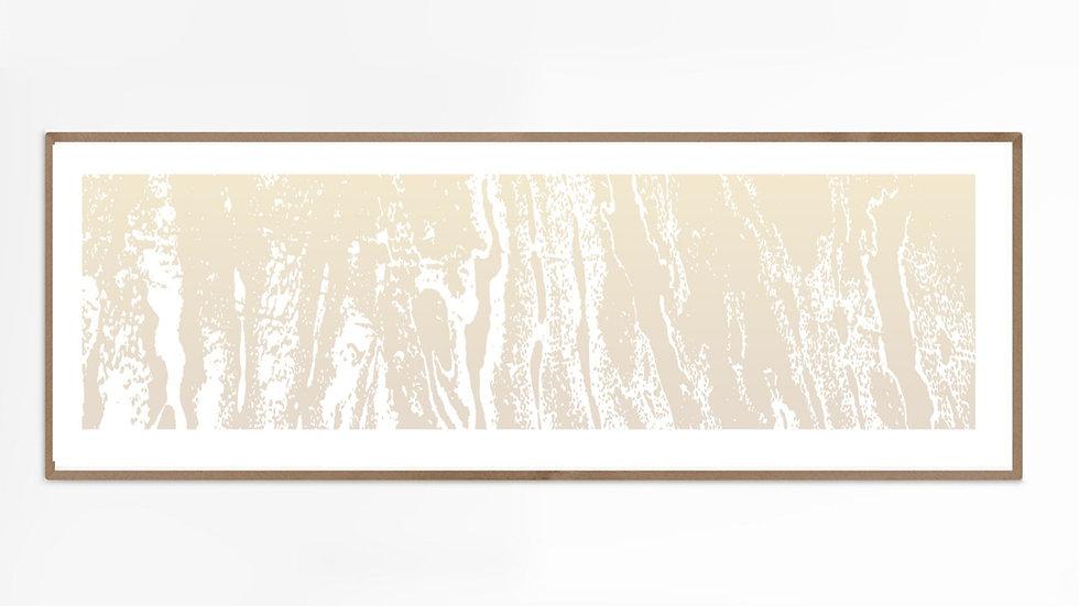 Long horizontal wall art giclee PRINT, in beige; 36x12