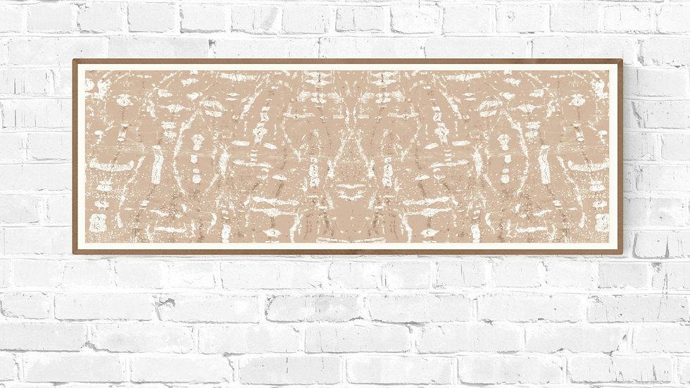 Tall skinny / long narrow wall art in beige; printable