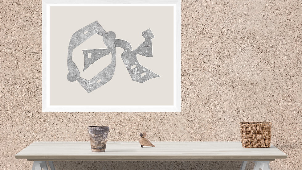 Large Abstract print to download in grey; 24x36 in