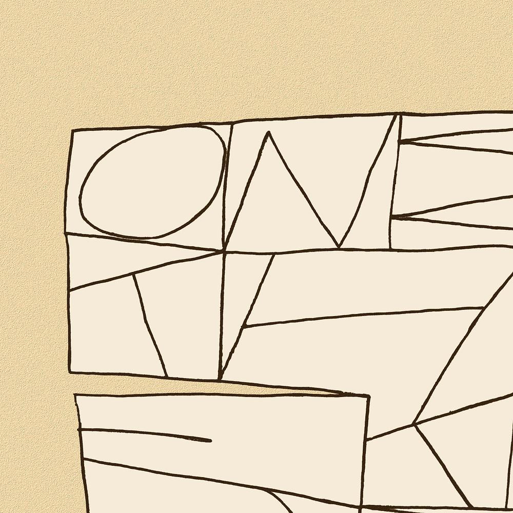 detail of a Paul-Klee-inspired art print by StillMovingArt