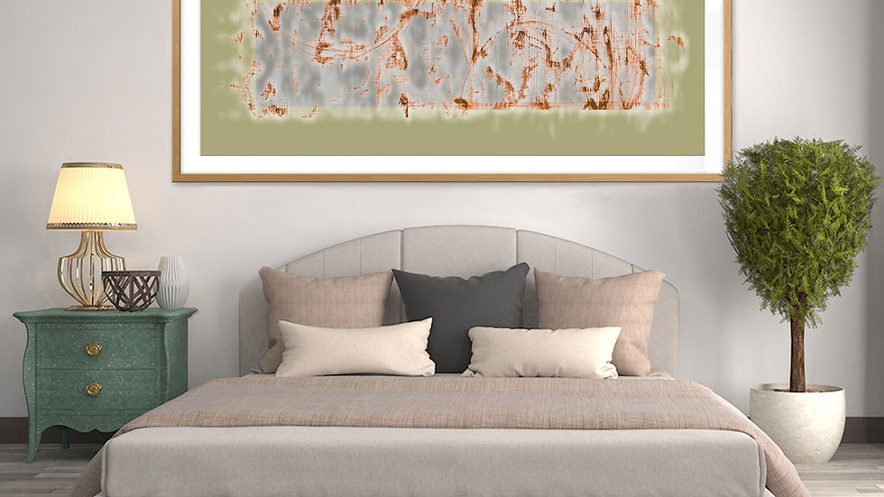 Mysterious, long, wide horizontal abstract art to print