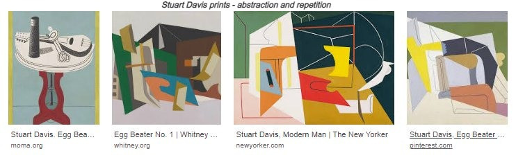 Prints by Stuart Davis, abstracts of the same egg-beater