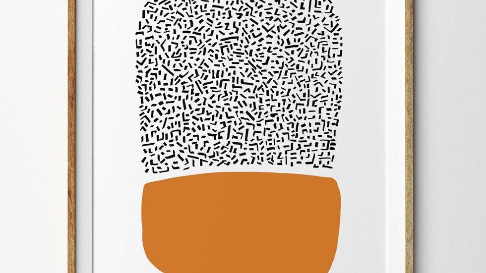 Bright Abstract Art to Print, Scandinavian Art, Minimalist
