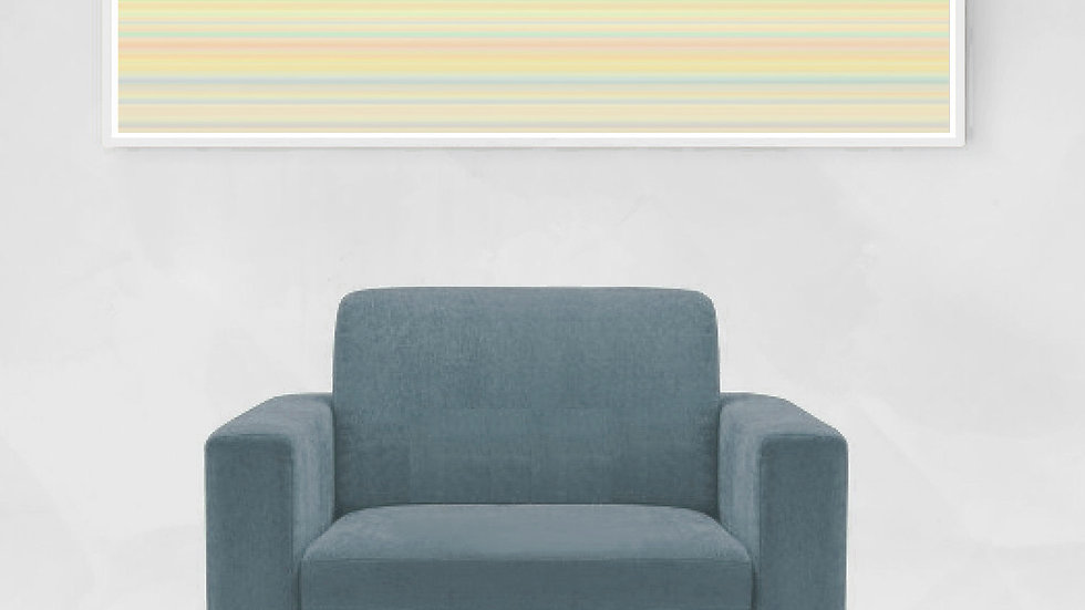 Long horizontal line wall art in pastel stripes ; Wide narrow printable
