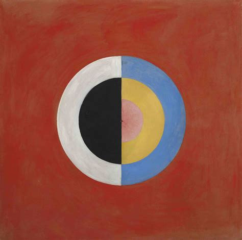 Abstract painting by Australian artist Hilma Af Klint: The Swan, No. 17