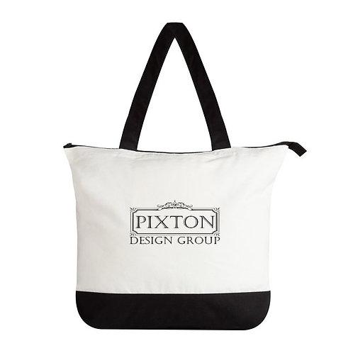 Pixton Design Group Large Cotton Zip Tote