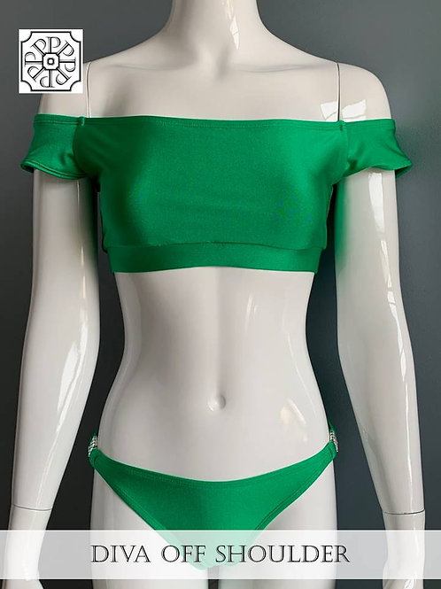 DIVA Off Shoulder 2 Piece Swimsuit